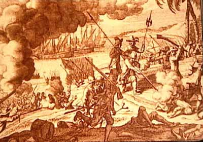 Dutch were incessantly at war with the Portuguese on the coast