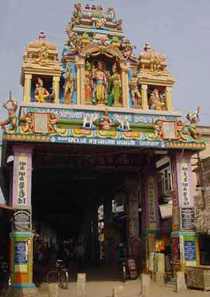 Temple passageway from Tiruchendur town