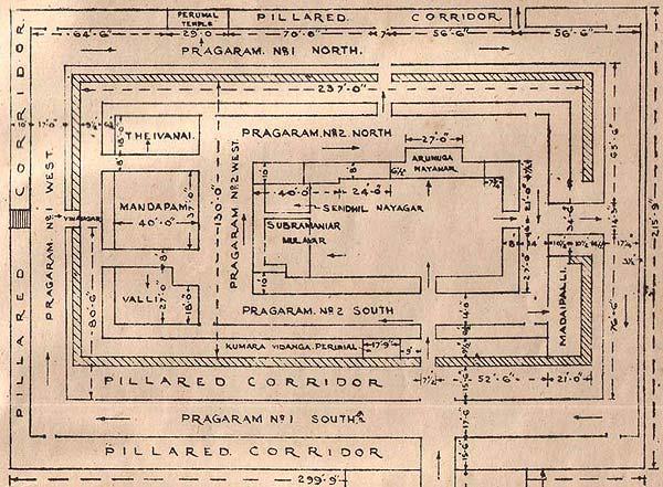 Floor plan of Tiruchendur Sri Subrahmanya Swami Devasthanam
